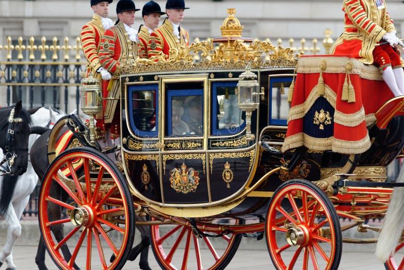 Rainha Elizabeth II e príncipe Philip foto de stock