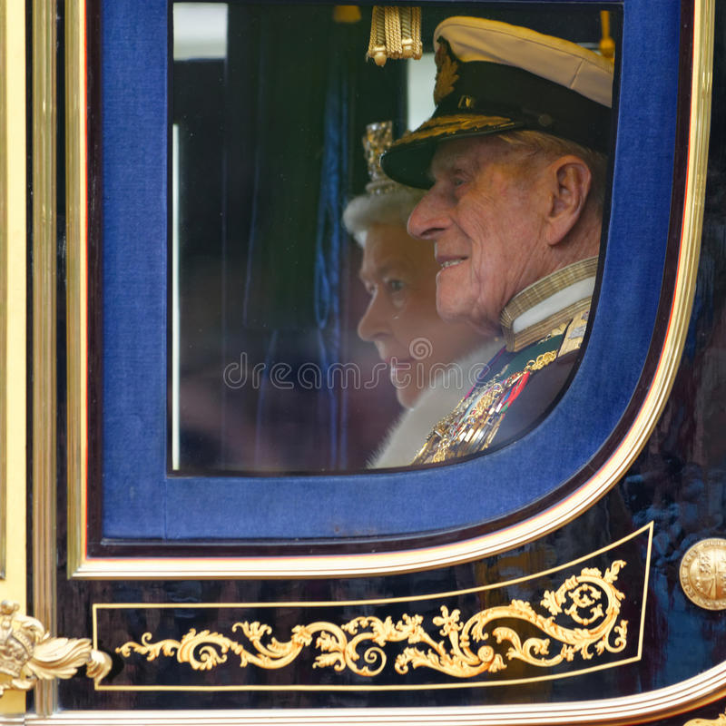 Rainha Elizabeth II e príncipe Philip imagens de stock royalty free