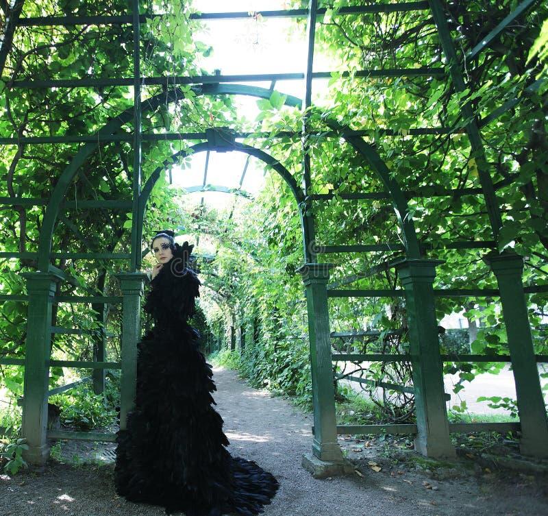 Rainha escura no parque imagens de stock