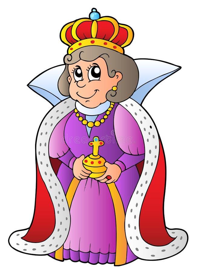 Rainha feliz ilustração royalty free