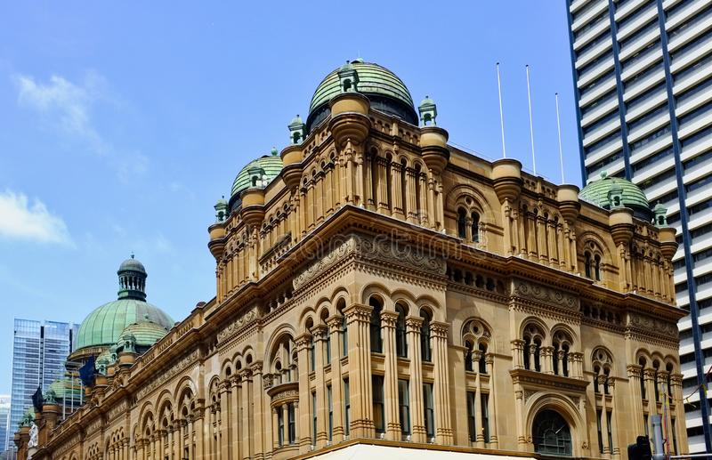 Rainha histórica Victoria Building, Sydney, NSW, Austrália foto de stock royalty free