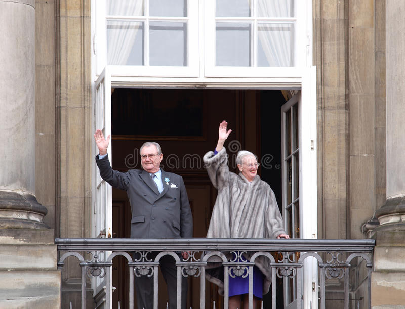 Rainha Margrethe de Dinamarca fotografia de stock royalty free