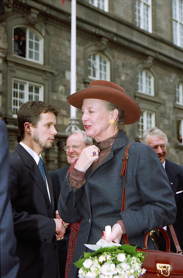 Rainha Margrethe de Dinamarca fotografia de stock