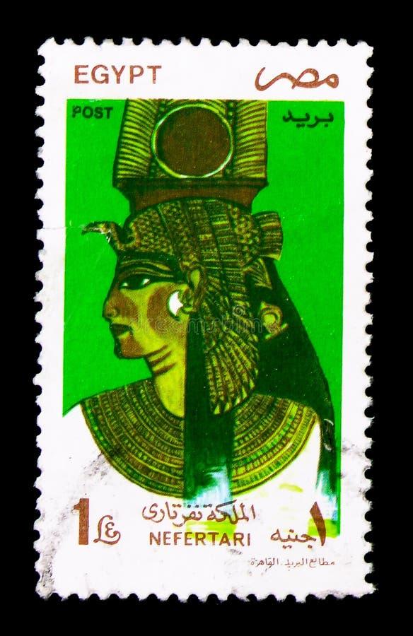 Rainha Nefertari, esposa de Ramses II, marcos, símbolos e Artwo fotos de stock