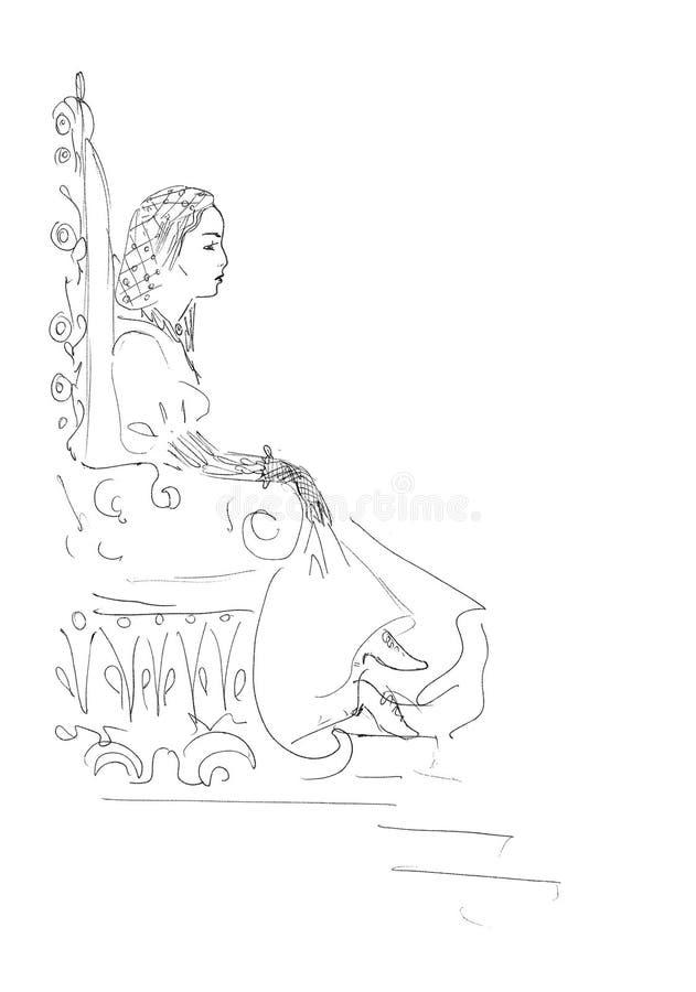 Rainha séria ilustração stock