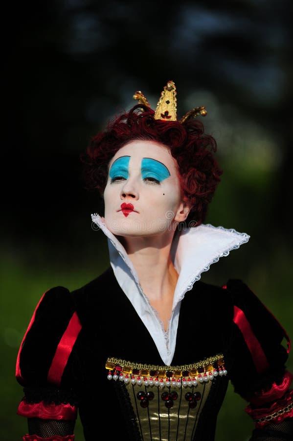 Rainha vermelha imagem de stock royalty free