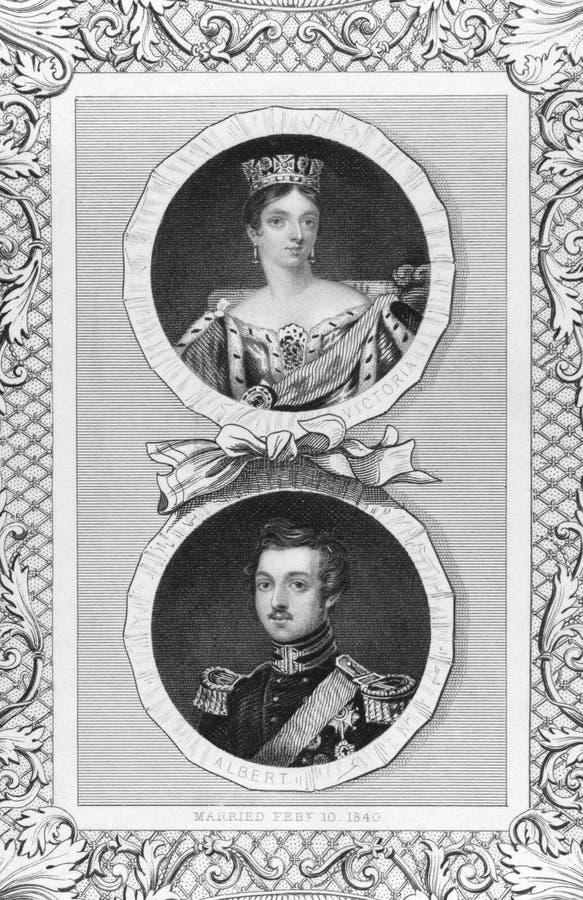 Rainha Victoria e príncipe Albert fotografia de stock royalty free