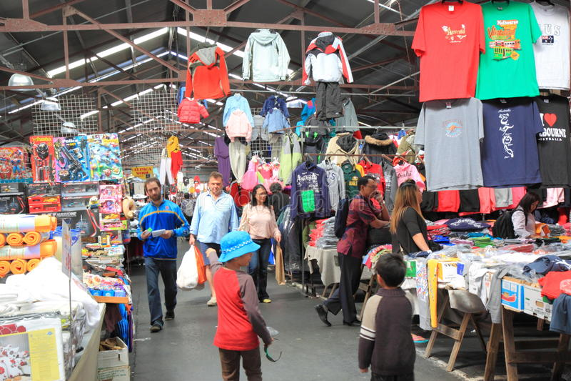Rainha Victoria Market Melbourne foto de stock