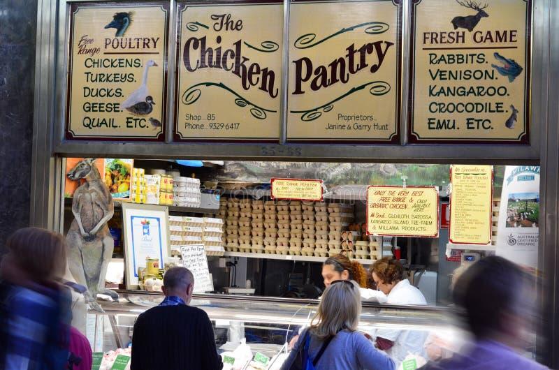 Rainha Victoria Market - Melbourne foto de stock royalty free