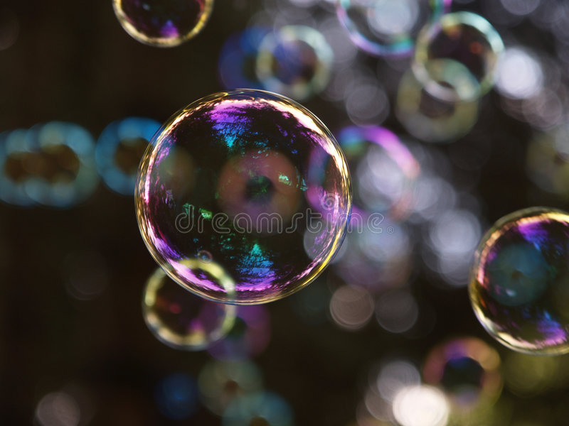 Raining Bubbles royalty free stock image