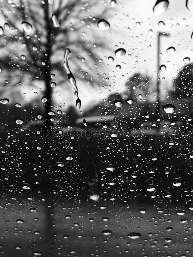 A raining day royalty free stock photography