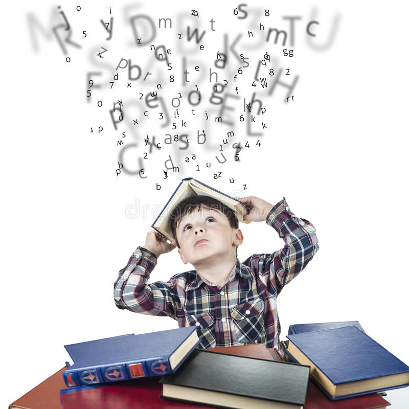 It is raining letters and numbers royalty free stock photo