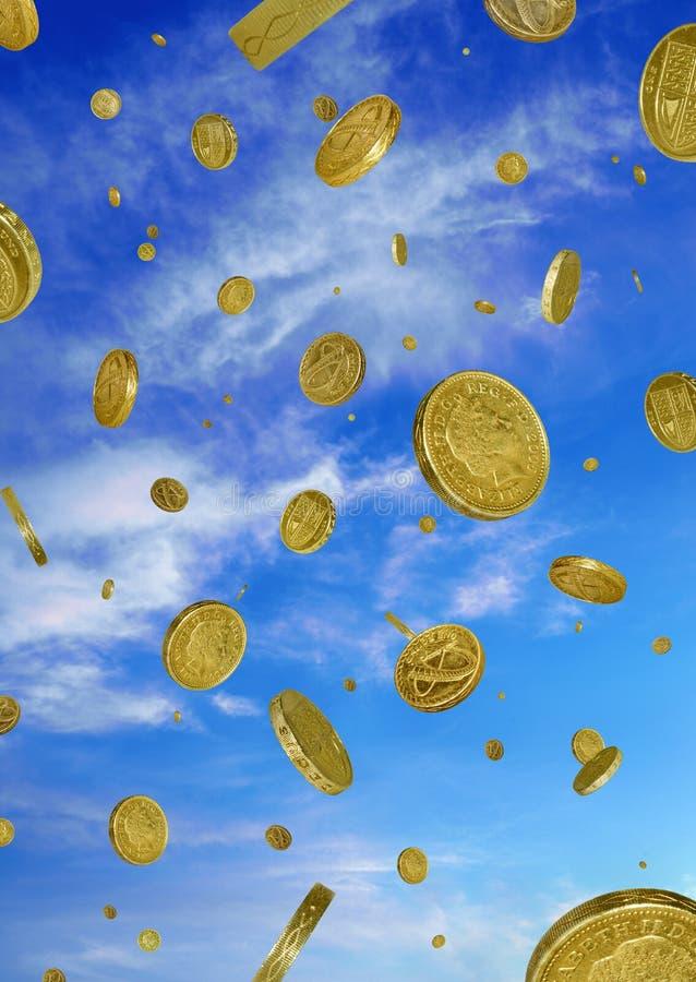 Raining Pounds stock photo