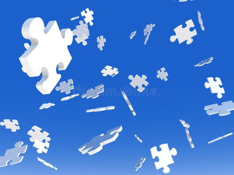 Download Raining Puzzles stock illustration. Image of jigsaw, raining - 2594725