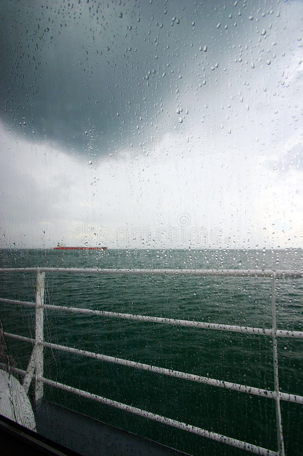 Free Raining Sea View Royalty Free Stock Images - 4965899
