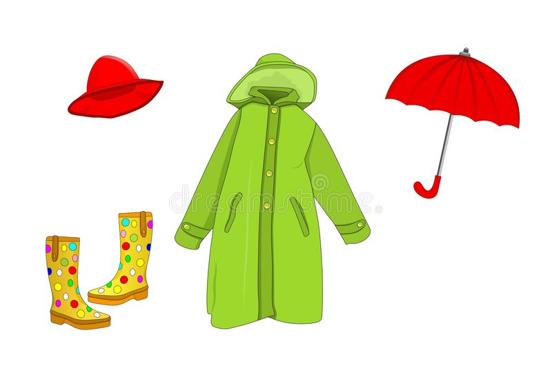 Raining time, cdr vector stock photography