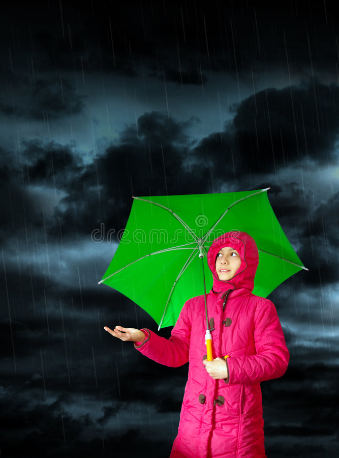 Download It Rains stock image. Image of security, safety, green - 7500213