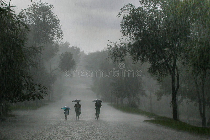 Rainstorm royalty free stock photo