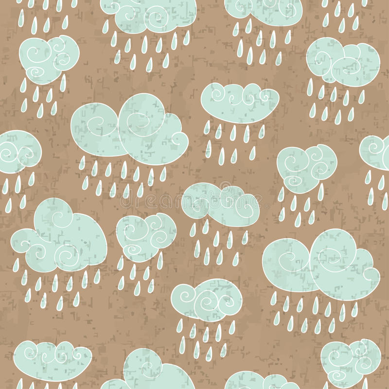 Download Rainy clouds stock vector. Image of cold, cloudburst - 28918823