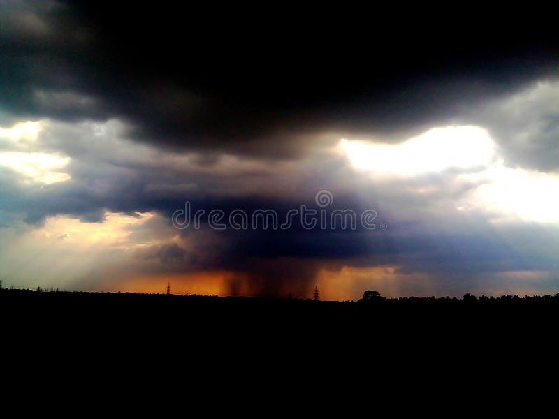 Rainy clouds royalty free stock images
