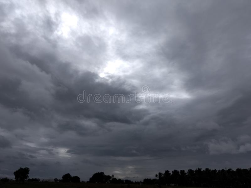 Rainy clouds royalty free stock photo