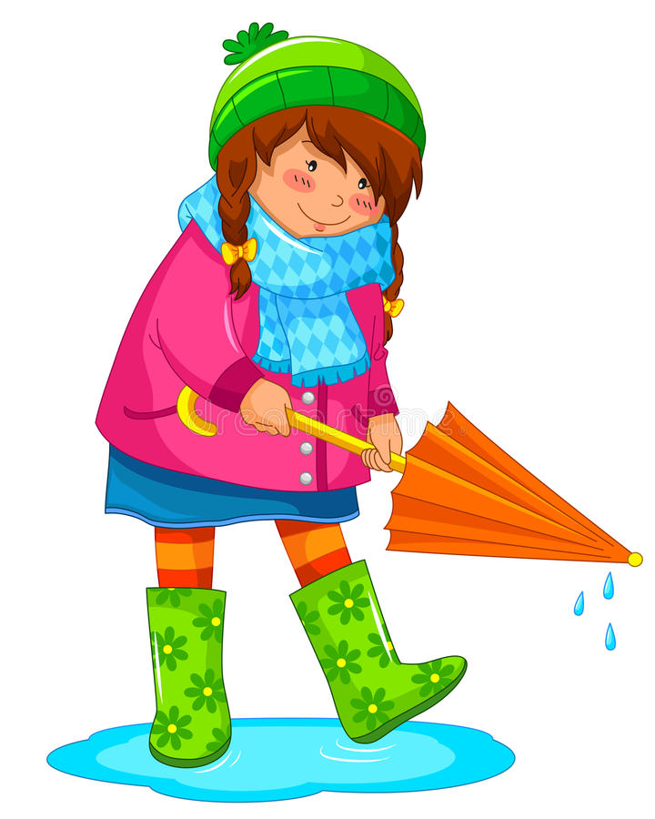 Download Rainy day stock vector. Illustration of image, playing - 28495001