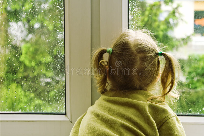 Download Rainy day stock photo. Image of ponytail, young, youth - 5257820