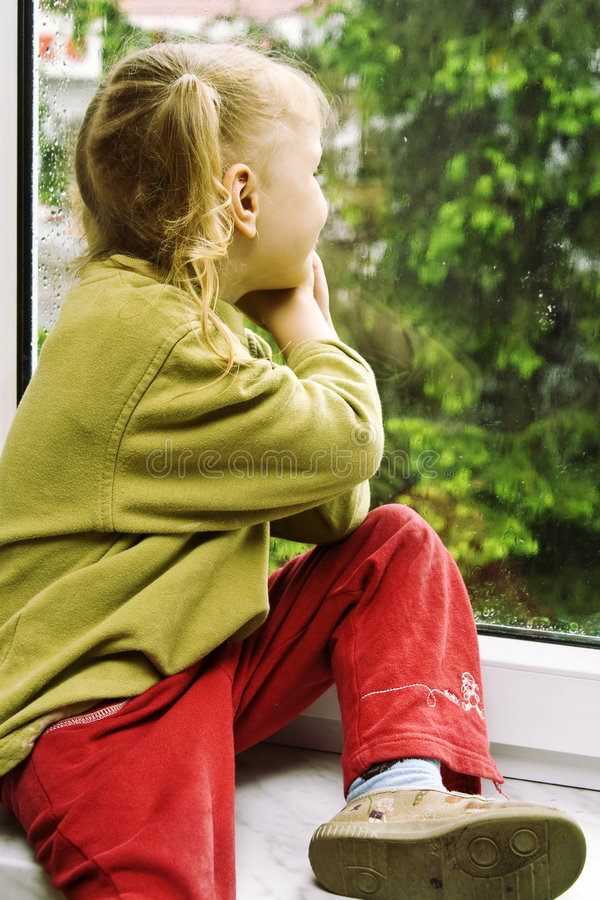 Download Rainy day stock photo. Image of rainy, youth, childhood - 5257878