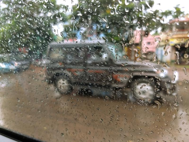 Rainy day- - cloudy weather. WEST BENGAL , INDIA , ASIA - SEP , 20 : Shooting in rain produces dramatic atmosphere and soft romantic scenes. Whether you are stock image