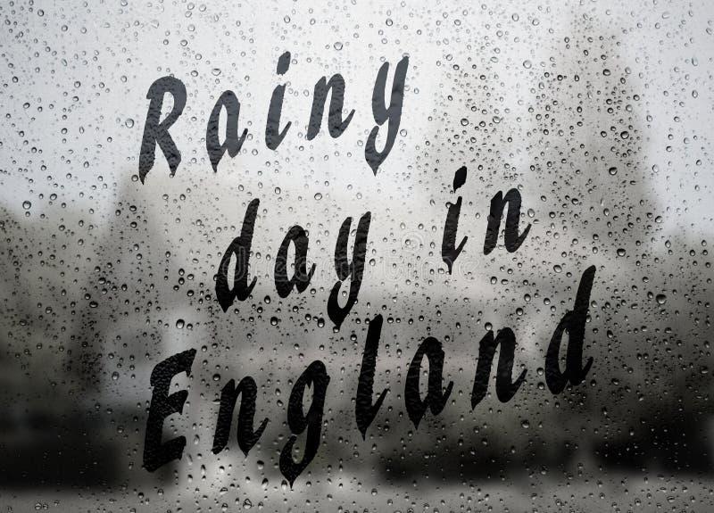 Rainy day in England stock photography