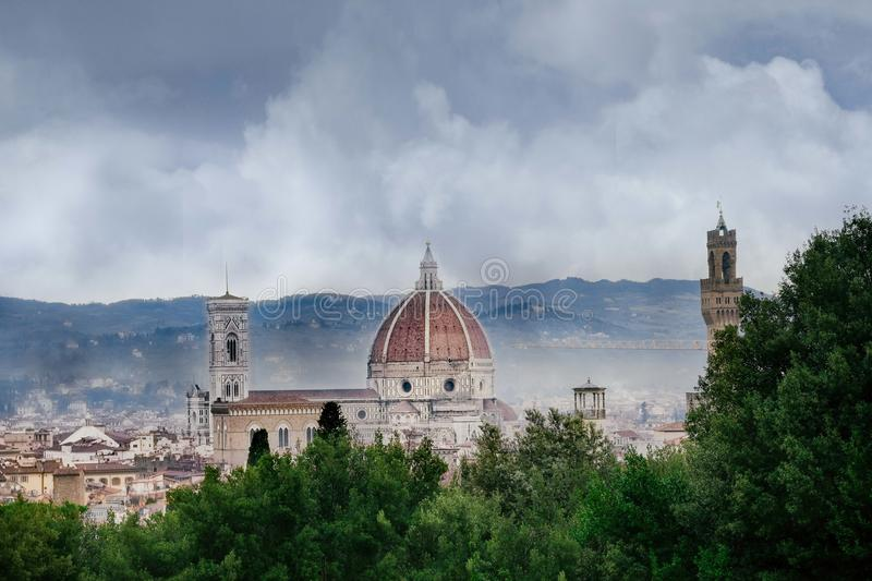 Rainy day in Florence, Tuscany / Italy royalty free stock images