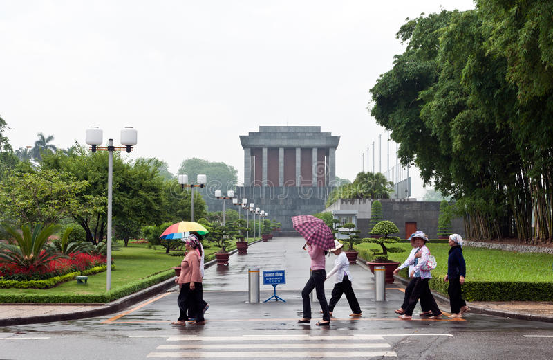 Rainy Day at the Ho Chi Minh Mausoleum royalty free stock images