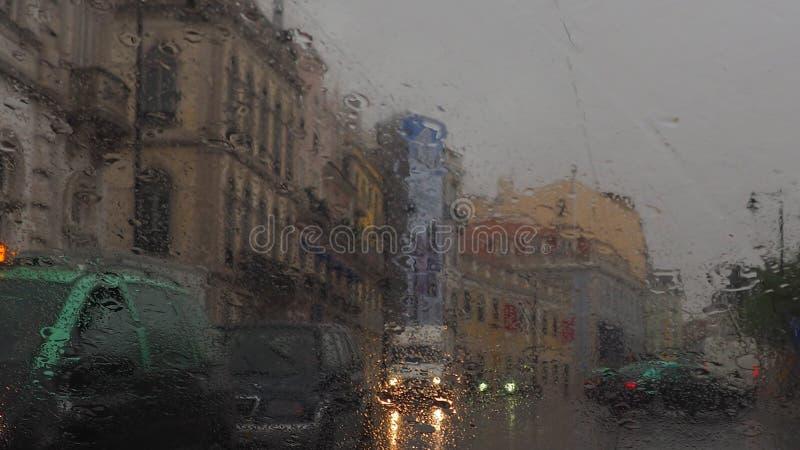 A rainy day in Lisbon stock photo
