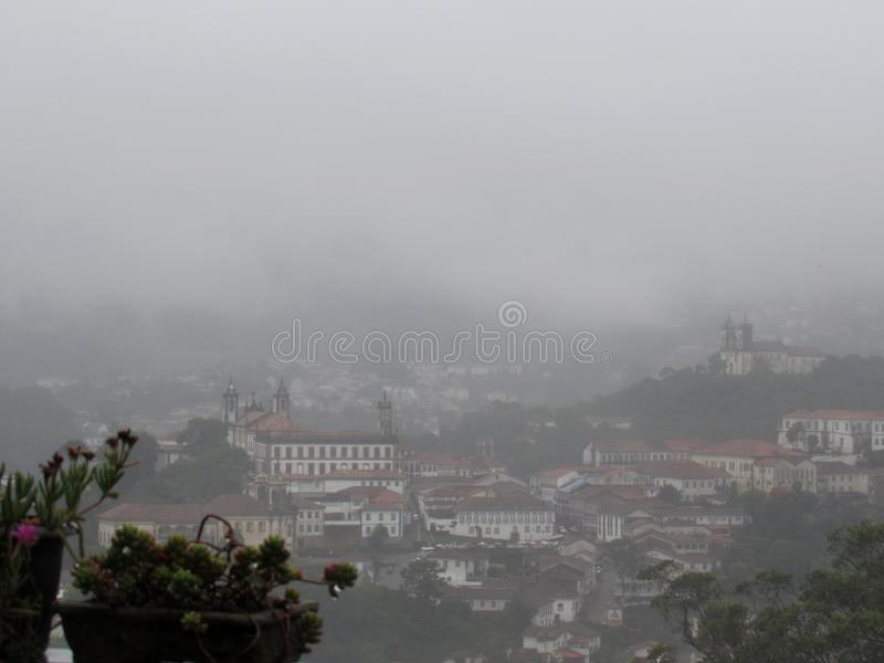 Rainy day in Ouro Preto - MG royalty free stock images