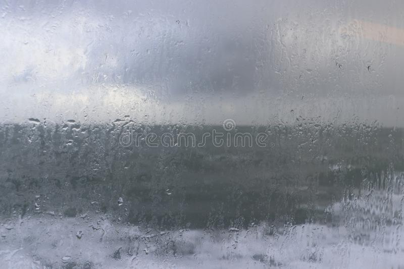 Rainy window royalty free stock photo