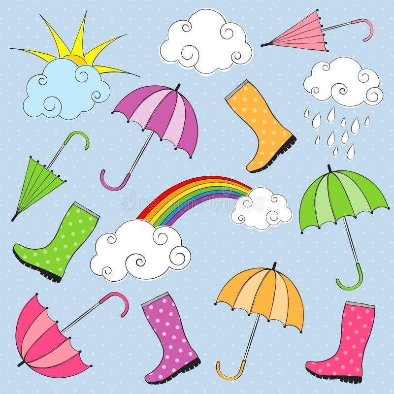 Rainy day vector illustration