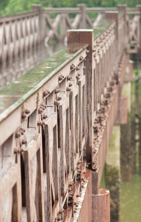 Download Rainy Day And Wooden Bridge Royalty Free Stock Photos - Image: 15087158