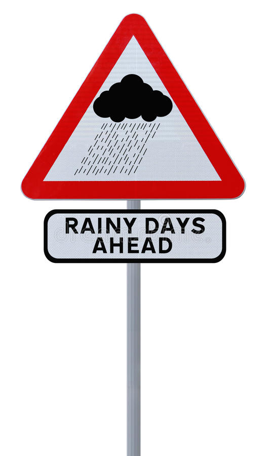 Download Rainy Days Ahead stock image. Image of sign, background - 27804133