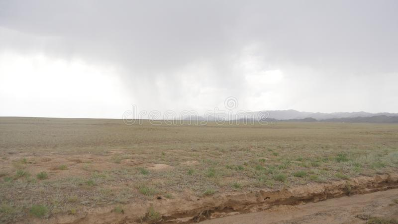 Beautiful scenery of hometown 1. The rainy days of the grasslands give people a mysterious feeling royalty free stock photo