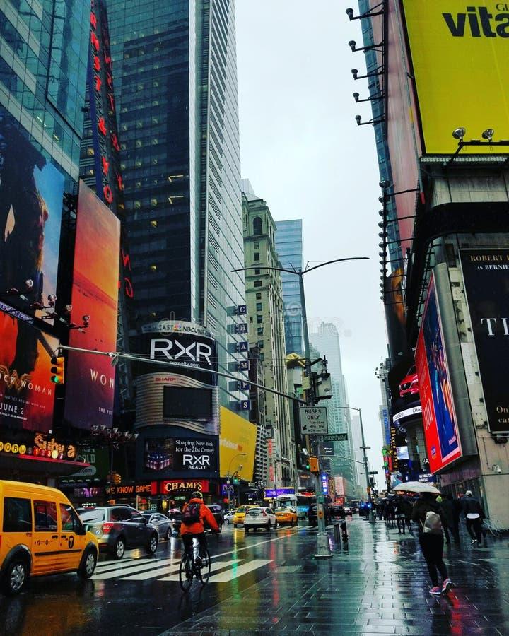 Rainy Days in New York City stock image