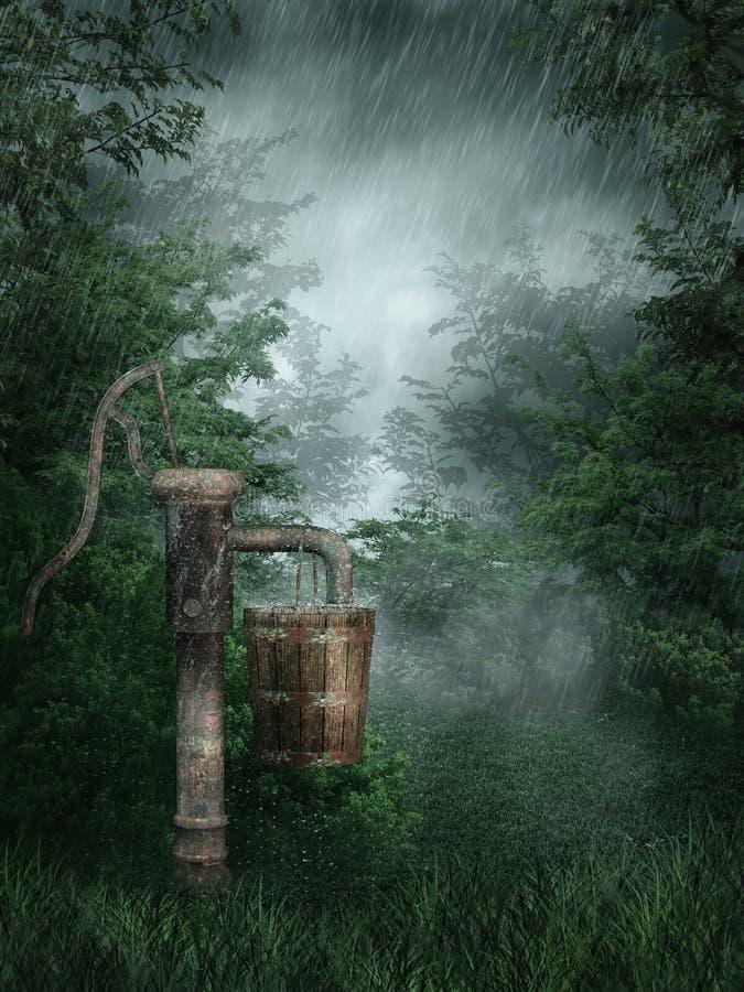 Download Rainy forest stock illustration. Illustration of pump - 18667415