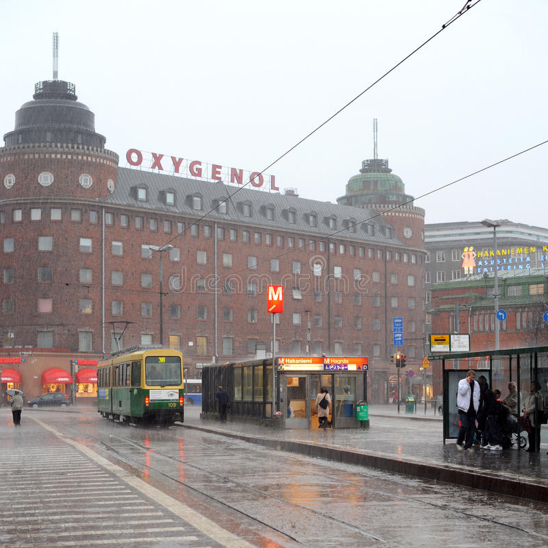 Download Rainy Helsinki editorial photography. Image of town, street - 27207292
