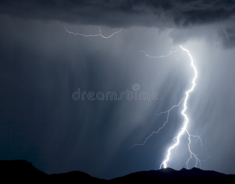 Rainy Lightning stock images