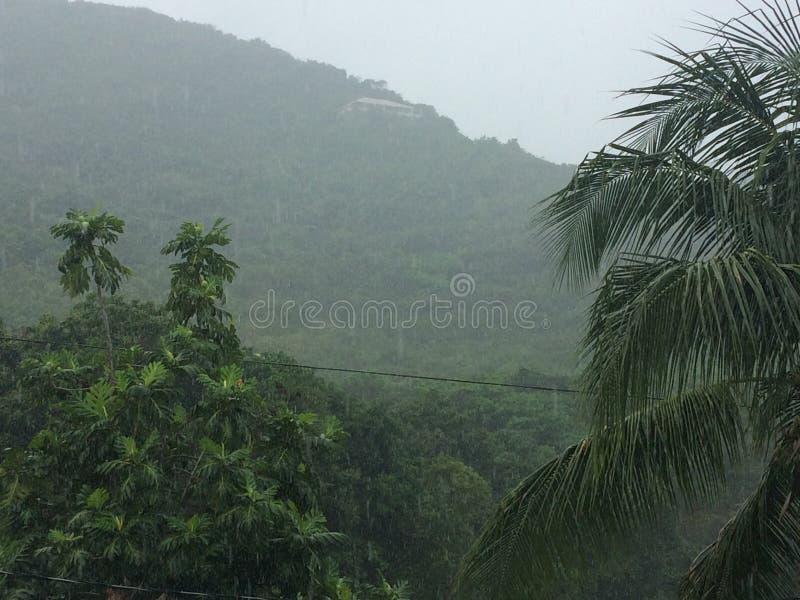 Rainy mountains royalty free stock photography