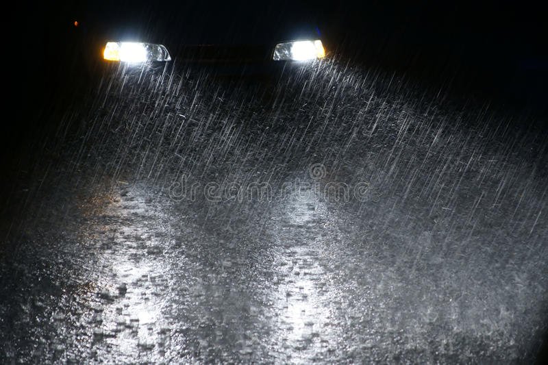 Download Rainy night stock photo. Image of rain, drizzles, strong - 15137776