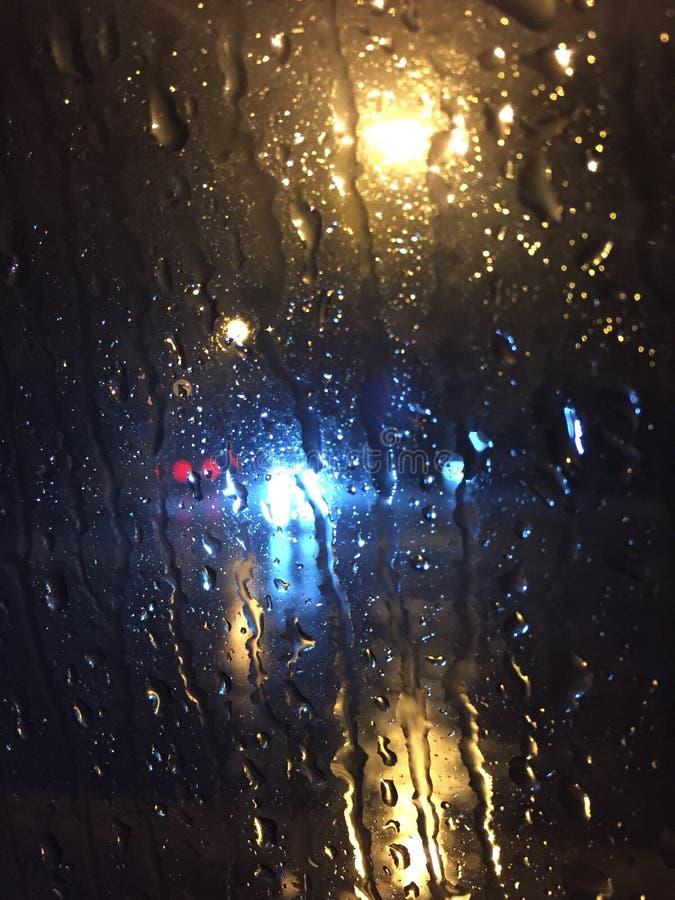 Rainy night royalty free stock photography