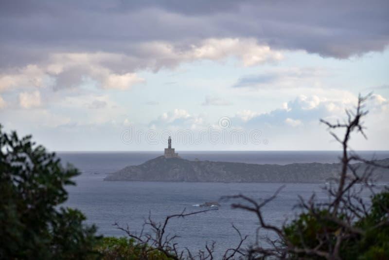 Rainy Seascape, phare images libres de droits