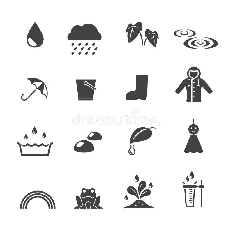 Rainy season icon. Set,vector and illustration stock illustration