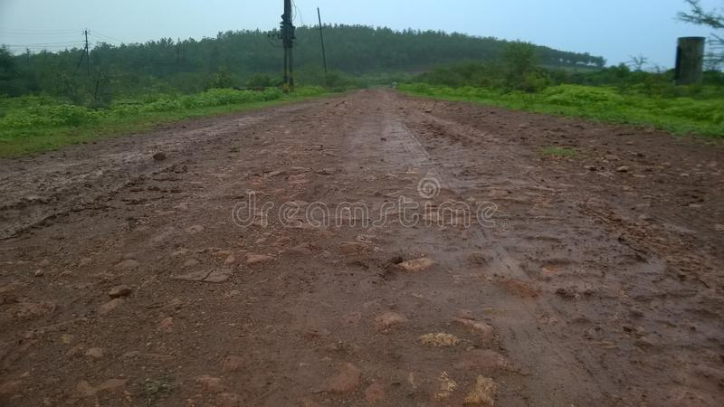 Rainy season Images. The image has taken on the Road of when the rain is going on royalty free stock images