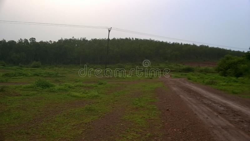Rainy season Images. The image has taken on the Road of when the rain is going on stock images